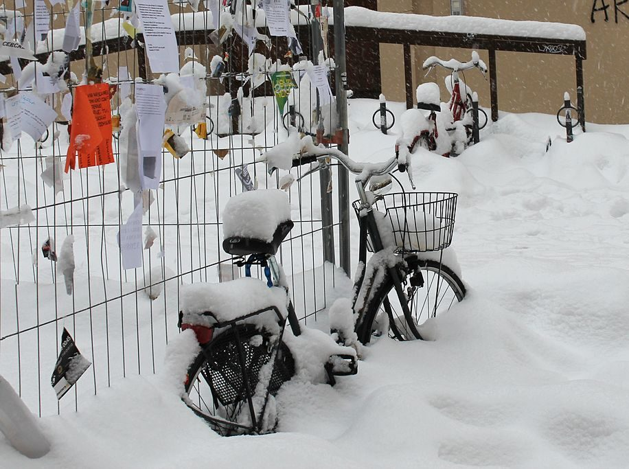 Radfahren im Winter. Foto: Andou via wikimedia commons